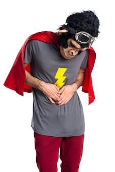 胃のスーパーヒーローサルの男