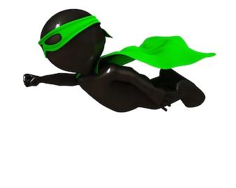 Superheroe flying