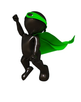 Superheroe trying to fly