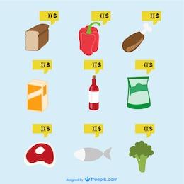Supermarket food vector