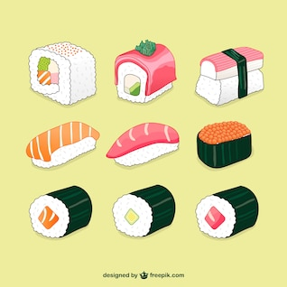 Sushi illustrations pack