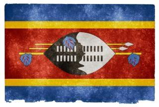 Swaziland grunge flag