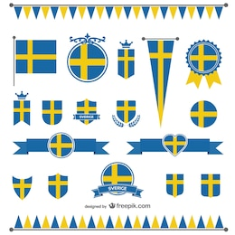 Sweden flag vector graphics