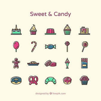 Sweet and candy icons