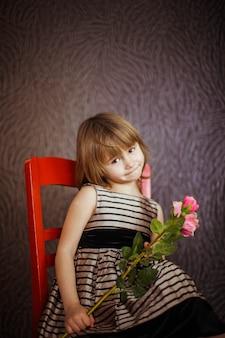 Sweet blue alone childhood flower
