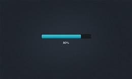 sweet compact progress bar interface psd