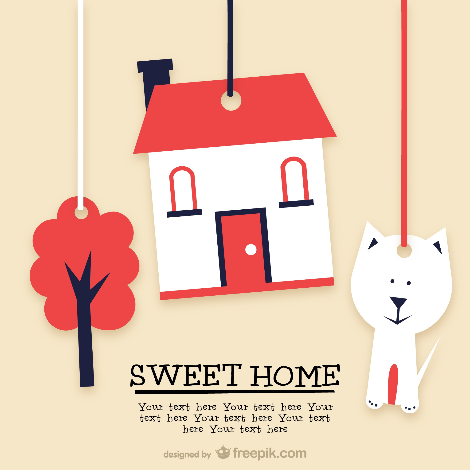Sweet home template design