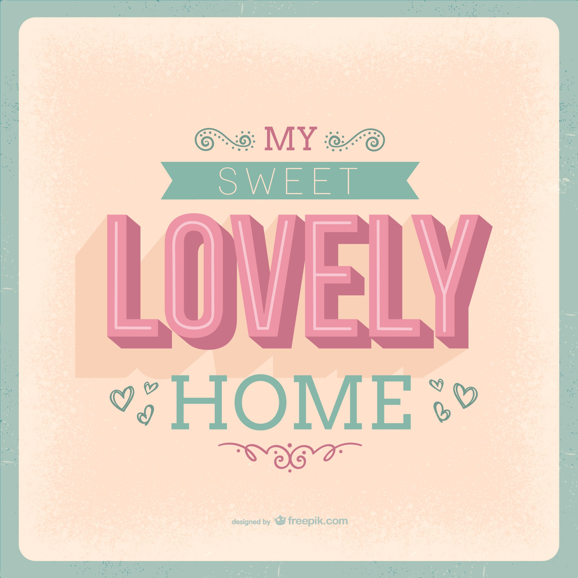Sweet lovely home lettering
