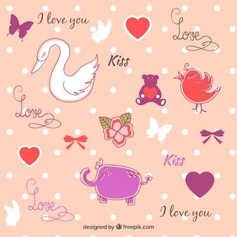 Sweet Valentine's Day illustration