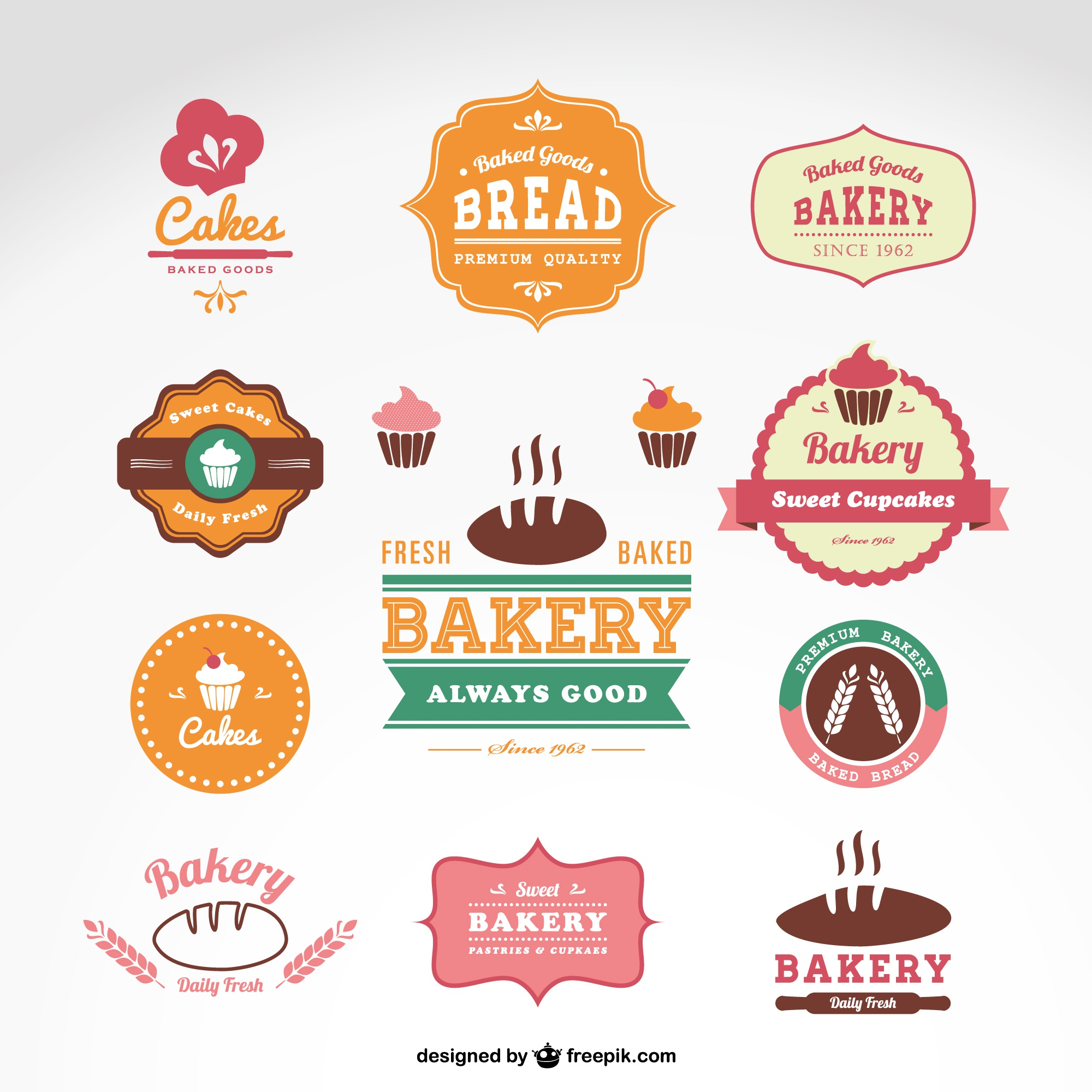 Sweetshop bakery vector badges