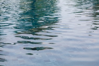 Swimming pool surface with reflections