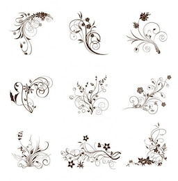 swirling flourishes decorative vintage elements