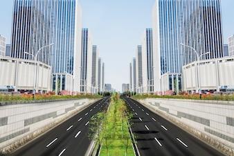Symmetrical street