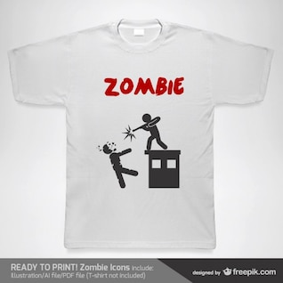 T-shirt zombie vector template