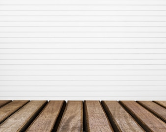 Table surface looking out to white striped background