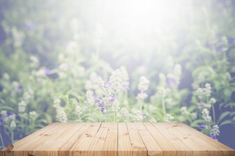 Table top with background
