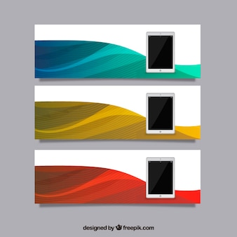 Tablet banners