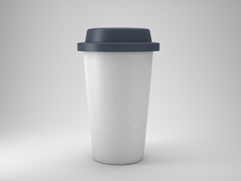 Take away plastic coffee cup