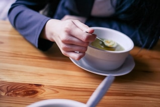 Taking soup