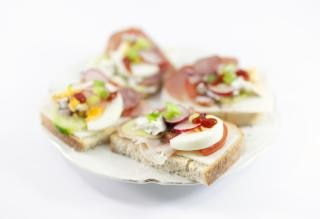 Tasty sandwiches on a plate