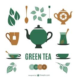 Tea elements collection