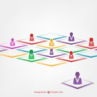 Team work colorful avatars