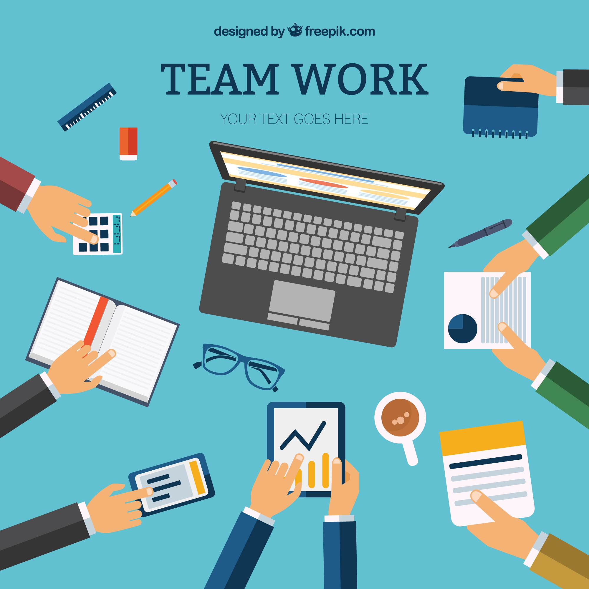 Team work template vector