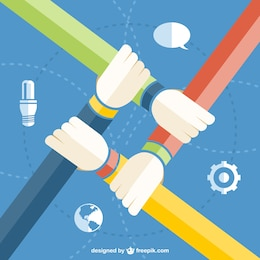 Teamwork vector free