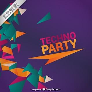 Techno party design