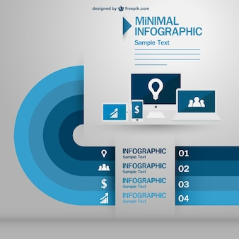 Technology devices minimal infography