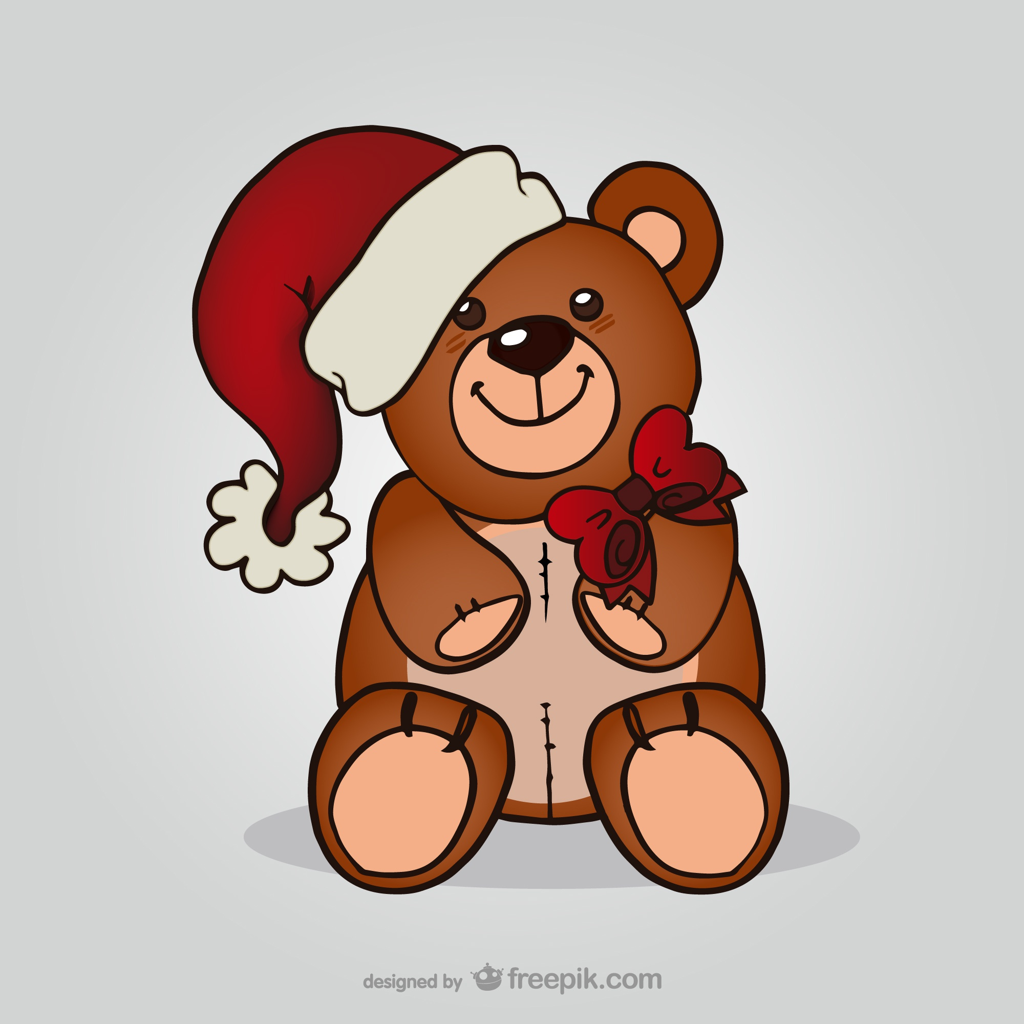 Teddy bear with Santa hat