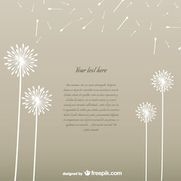Template vector with white dandelions