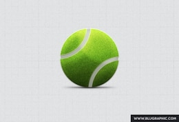 Tennis Ball Psd Blugraphic