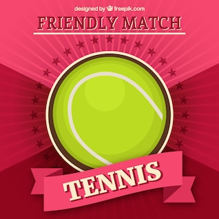 Tennis ball vector template