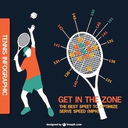 Tennis infographic design