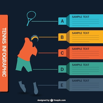 Tennis infographic vector