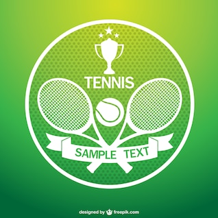 Tennis tournament vector art