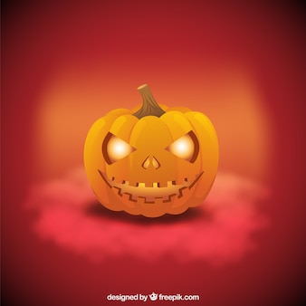 Terrifying pumpkin face