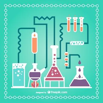 Test tubes laboratory set