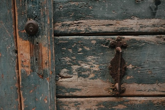 Texture of a wooden door