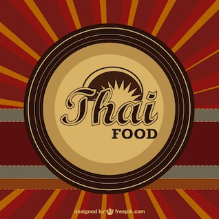 Thai food vector template