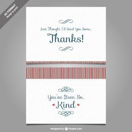 Thank you card template vector