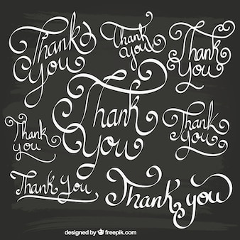 Thank you lettering