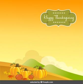 Thanksgiving background with pumpkin