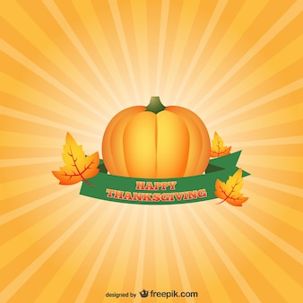 Thanksgiving card with pumpkin