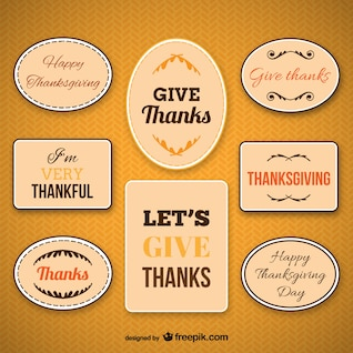 Thanksgiving labels pack