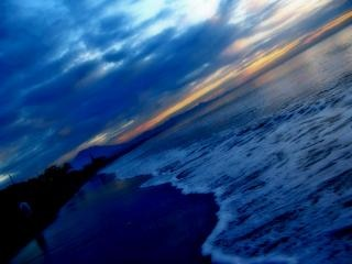 The atmosphere of coastal dunes, sky