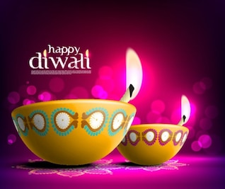 the beautiful diwali card    vector material