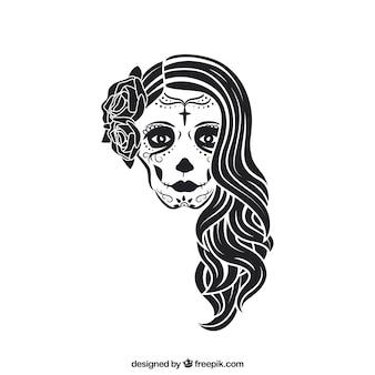 The Catrina skull