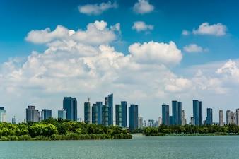 The cityscape